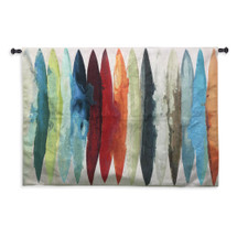 Even Flow | Woven Tapestry Wall Art Hanging | Dynamic Colors | 100% Cotton USA 78x53 Wall Tapestry