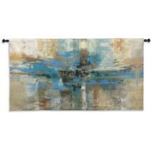 Morning Fjord by Silvia Vassileva | Woven Tapestry Wall Art Hanging | Abstract Scandinavian Landscape Artwork | 100% Cotton USA Size 63x34 Wall Tapestry