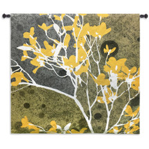 Moon Flowers III by James Burghardt | Woven Tapestry Wall Art Hanging | Vivid Abstract Nature Artwork | 100% Cotton USA Size 44x44 Wall Tapestry