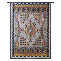 Southwest Turquoise | Woven Tapestry Wall Art Hanging | Native American Inspired Geometric Design | 100% Cotton USA Size 76x53 Wall Tapestry