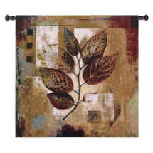Modernist Autumn by Dougal | Woven Tapestry Wall Art Hanging | Abstract Fall Leaf in Contemporary Geometric Pattern | 100% Cotton USA Size 35x35 Wall Tapestry