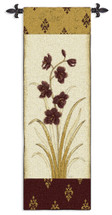 Kimono Orchid Plum I | Woven Tapestry Wall Art Hanging | Orchids Damask Asian Plum Japanese Artwork | 100% Cotton USA Size 53x18 Wall Tapestry