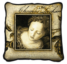 The Monarch Textured Hand Finished Elegant Woven Throw Pillow Cover 100% Cotton Made in the USA Size 27 x 27 Pillow