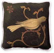 Snowbird Fresco Textured Hand Finished Elegant Woven Throw Pillow Cover 100% Cotton Made in the USA Size 17x17 Pillow