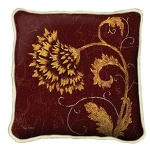 Dahlia Fresco Textured Hand Finished Elegant Woven Throw Pillow Cover 100% Cotton Made in the USA Size 17x17 Pillow