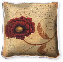 Pincushion Fresco Textured Hand Finished Elegant Woven Throw Pillow Cover 100% Cotton Made in the USA Size 17x17 Pillow