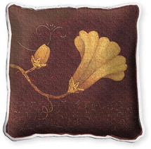Datura Fresco Textured Hand Finished Elegant Woven Throw Pillow Cover 100% Cotton Made in the USA Size 17x17 Pillow