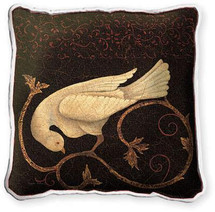 Songbird Fresco Textured Hand Finished Elegant Woven Throw Pillow Cover 100% Cotton Made in the USA Size 17x17 Pillow