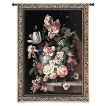 Flowers of Grace by Riccardo Bianchi | Woven Tapestry Wall Art Hanging | Blooming Botanical Centerpiece Still Life | 100% Cotton USA Size 76x53 Wall Tapestry
