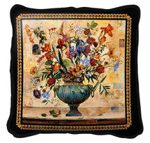 Radiance Textured Hand Finished Elegant Woven Throw Pillow Cover 100% Cotton Made in the USA Size 17x17 Pillow