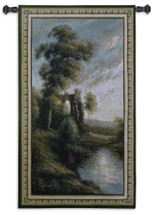 Ancient Ruins II by Nigel Pierce | Woven Tapestry Wall Art Hanging | Tranquil Morning Sunset in Ancient Ruins | 100% Cotton USA Size 53x29 Wall Tapestry