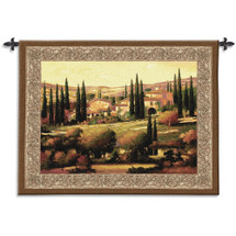Tuscan Gold by Max Hayslette | Woven Tapestry Wall Art Hanging | Italian Villa Countryside Landscape | 100% Cotton USA Size 53x40 Wall Tapestry