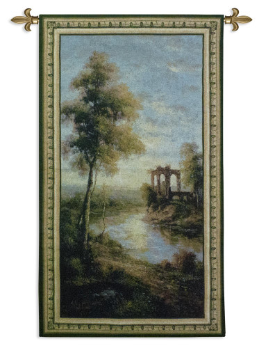 Ancient Ruins I by Nigel Pierce | Woven Tapestry Wall Art Hanging | Tranquil Morning Sunset in Ancient Ruins | 100% Cotton USA Size 53x29 Wall Tapestry