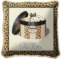 Tres Kitten Textured Hand Finished Elegant Woven Throw Pillow Cover 100% Cotton Made in the USA Size 17x17 Pillow