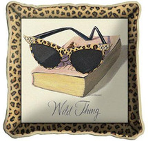 Wild Thing Textured Hand Finished Elegant Woven Throw Pillow Cover 100% Cotton Made in the USA Size 17x17 Pillow