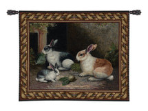 Fine Art Tapestries Lapin Wool and Cotton Hand Finished European Style Jacquard Woven Wall Tapestry  USA Size 40x53 Wall Tapestry