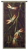 October Song II by Robert Ichter | Woven Tapestry Wall Art Hanging | Ornate Dragonflies in Warm Easter Style | 100% Cotton USA Size 53x27 Wall Tapestry