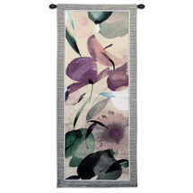 Fiesta Primavera II by Lola Abellan | Woven Tapestry Wall Art Hanging | Floral Organic Forms and Fruit Themes | 100% Cotton USA Size 53x22 Wall Tapestry