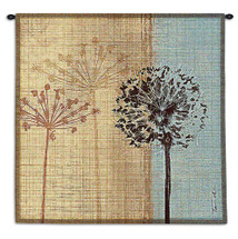 In the Breeze by Tandi Venter | Woven Tapestry Wall Art Hanging | Botanical Dandelion Theme | 100% Cotton USA Size 35x35 Wall Tapestry