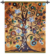 Tree of Life by Natasha Wescoat | Woven Tapestry Wall Art Hanging | Modern Spiritual Spiraling Design | 100% Cotton USA Size 53x42 Wall Tapestry