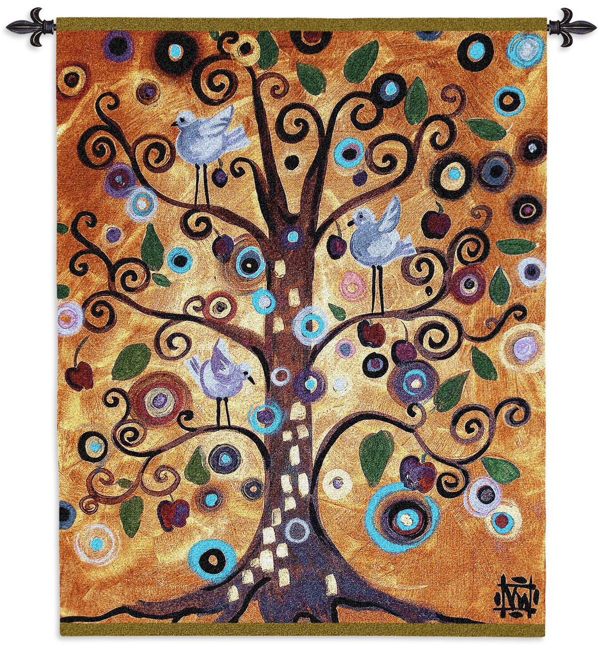 Tree Of Life By Natasha Wescoat Woven Tapestry Wall Art Hanging Modern Spiritual Spiraling Design 100 Cotton Usa Size 53x42