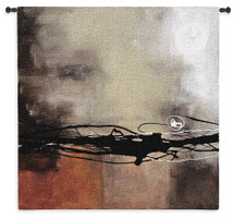 Prelude in Rust II by Laurie Maitland | Woven Tapestry Wall Art Hanging | Rich Earthy Abstract Expressionist Design | 100% Cotton USA Size 44x44 Wall Tapestry