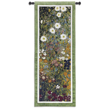 Flower Garden by Gustav Klimt | Woven Tapestry Wall Art Hanging | Multi-Color Floral Ensemble | 100% Cotton USA Size 52x20 Wall Tapestry