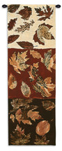 Autumn Leaves I | Woven Tapestry Wall Art Hanging | Warm Contemporary Fall Panels | 100% Cotton USA Size 51x17 Wall Tapestry