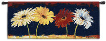 Girls Night Out by Nel Whatmore | Woven Tapestry Wall Art Hanging | Bright Daisies Blooming at Night | 100% Cotton USA Size 53x23 Wall Tapestry