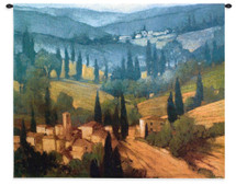 Tuscan Valley View by Philip Craig   Woven Tapestry Wall Art Hanging   Warm Tuscan Landscape with Rolling Hills   100% Cotton USA Size 34x26 Wall Tapestry
