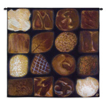 Chocolate Box by Ketra Oberlander | Woven Tapestry Wall Art Hanging | Whimsical Scrumptious Chocolate Array | 100% Cotton USA Size 31x31 Wall Tapestry