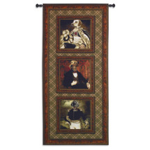 Poncelet's Pack | Woven Tapestry Wall Art Hanging | Whimsical Regal Debonair Dogs Panel Artwork | 100% Cotton USA Size 68x31 Wall Tapestry