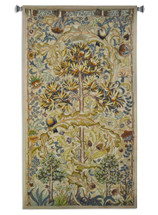 European Summer Quince by William Morris | Woven Tapestry Wall Art Hanging | Fruit Tree with Swirling Acanthus Leaf Design | 100% Cotton USA Size 64x34 Wall Tapestry