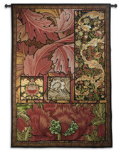 Morris Medley | Woven Tapestry Wall Art Hanging | Lush Intricate William Morris Tribute Design | 100% Cotton USA Size 72x50 Wall Tapestry