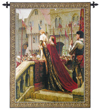 A Little Prince Likely in Time to Bless a Royal Throne by Edmund Blair Leighton | Woven Tapestry Wall Art Hanging | Romantic Medieval Royal Theme | 100% Cotton USA Size Size 65x52 Wall Tapestry