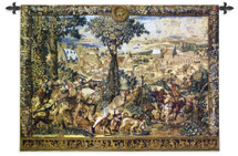 Hunting Parties of Archduke Maximilian | Woven Tapestry Wall Art Hanging | Intricate Renaissance Royal Hunting Scene | 100% Cotton USA Size 53x40 Wall Tapestry