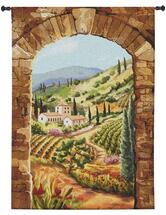 Tuscan Vineyard by Brad Simpson | Woven Tapestry Wall Art Hanging | Lush Italian Villa Hillside | 100% Cotton USA Size 58x44 Wall Tapestry