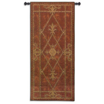 Edinburgh Scroll | Woven Tapestry Wall Art Hanging | Castle Door Scrollwork | 100% Cotton USA Size 57x26 Wall Tapestry