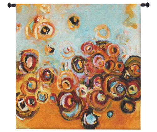 Paradisio II by Patrick Pryor   Woven Tapestry Wall Art Hanging   Vibrant Abstract Floral Bouquet   100% Cotton USA Size 53x53 Wall Tapestry