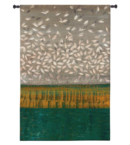 Shimmer by Cat Tesla | Woven Tapestry Wall Art Hanging | Bold Abstract Landscape in Vivid Colors | 100% Cotton USA Size 44x31 Wall Tapestry