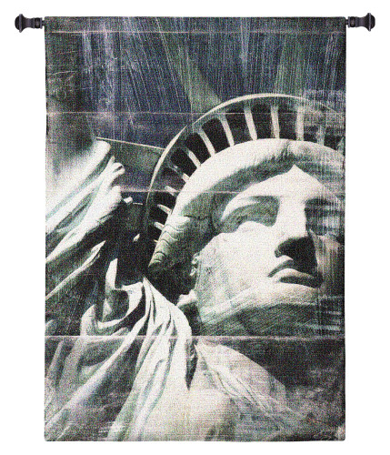 Miss Liberty by Nathan Bailey | Woven Tapestry Wall Art Hanging | Patriotic American Statue of Liberty Portrait | 100% Cotton USA Size 64x42 Wall Tapestry