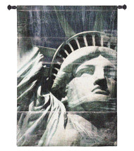 Miss Liberty by Nathan Bailey | Woven Tapestry Wall Art Hanging | Patriotic American Statue of Liberty Portrait | 100% Cotton USA Size 47x31 Wall Tapestry