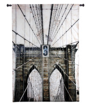 Washington Bridge by Nathan Bailey | Woven Tapestry Wall Art Hanging | Industrial New York City Architecture | 100% Cotton USA Size 41x25 Wall Tapestry