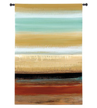 Horizon Lines I by Cat Tesla | Woven Tapestry Wall Art Hanging | Soft Toned Striped Abstract Design | 100% Cotton USA Size 44x30 Wall Tapestry