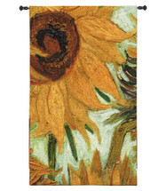 Flowers of the Sun | Woven Tapestry Wall Art Hanging | Close Up of 'Vase with Twelve Flowers' by Vincent van Gogh | 100% Cotton USA Size 55x31 Wall Tapestry