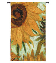 Flowers of the Sun | Woven Tapestry Wall Art Hanging | Close Up of 'Vase with Twelve Flowers' by Vincent van Gogh | 100% Cotton USA Size 63x44 Wall Tapestry