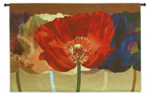 Poppy Tango by Robert Mertens | Woven Tapestry Wall Art Hanging | Vibrant Dynamic Blood Red Poppies Contemporary Artwork | 100% Cotton USA Size 52x35 Wall Tapestry