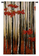 Beauty Within I by Oscar Soler | Woven Tapestry Wall Art Hanging | Nature Birch Tree Impressionist Forest | 100% Cotton USA Size 51x31 Wall Tapestry