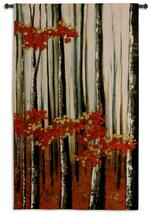 Beauty Within II by Oscar Soler | Woven Tapestry Wall Art Hanging | Birch Tree Forest with Autumn Tones | 100% Cotton USA Size 51x31 Wall Tapestry