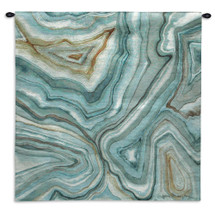 Agate Abstract II by Megan Meagher | Woven Tapestry Wall Art Hanging | Polished Stone Marble Contemporary Pattern Artwork | 100% Cotton USA Size 30x30 Wall Tapestry